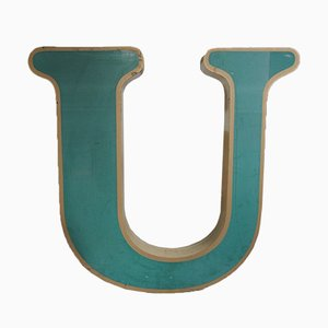 Large Vintage German Letter U Sign