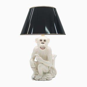 Lámpara de pie italiana vintage con mono de cerámica, años 60