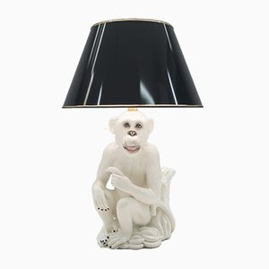 Vintage Italian Ceramic Monkey Floor Lamp, 1960s