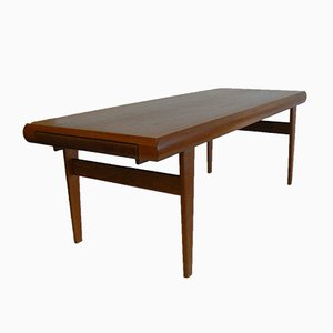 Danish Teak Coffee Table with Built-In Nesting Table from Trioh, 1970s