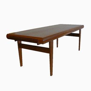 Table Basse avec Tables Gigognes Intégrées en Teck de Trioh, 1970s