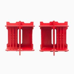 Modernistische Stapelbare Beistelltische, 1960er, 2er Set