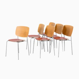 Scandinavian Modern Chairs by Jonas Lindvall for Skandiform, Set of 6
