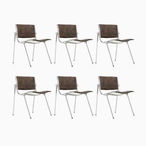Italienische Aluminium Stühle von Vaghi, 1960er, 6er Set