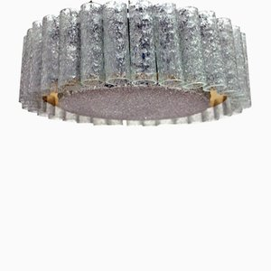 Glass Ceiling Light from Doria, 1960s
