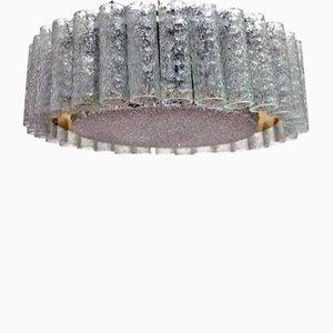 Lampada da soffitto in vetro di Doria, anni '60