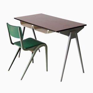 Bureau et Chaise par James Leonard pour ESA, 1950s