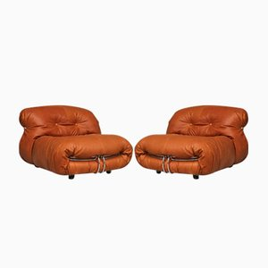 Vintage Soriana Lounge Chairs by Tobia & Afra Scarpa for Cassina, Set of 2
