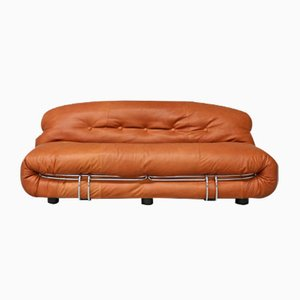 Vintage Two-Seater Soriana Sofa by Tobia & Afra Scarpa for Cassina