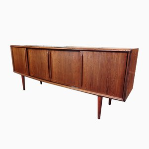 Bow-Front Rosewood Sideboard by Arne Vodder for HP Hansen, 1960s