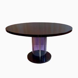 Table de Salle à Manger Mid-Century en Plexiglas et Palissandre