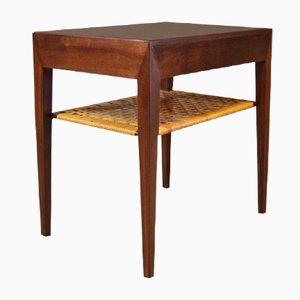 Petite Table de Chevet en Bois Sombre par Severin Hansen pour Haslev, 1960s