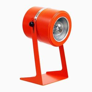 Lámpara de mesa de metal naranja, años 70