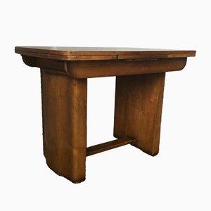 Tavolo da pranzo Art Déco allungabile in legno di noce