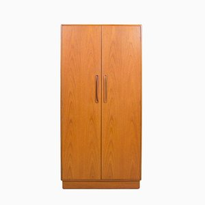 Vintage Fresco Double Gentlemen's Teak Wardrobe by Victor Wilkins for G-Plan