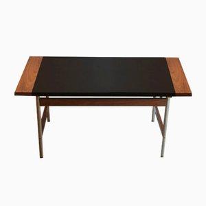 Mesa de centro vintage de palisandro y cuero de Sven Ivar Dysthe para Dokka Møbler
