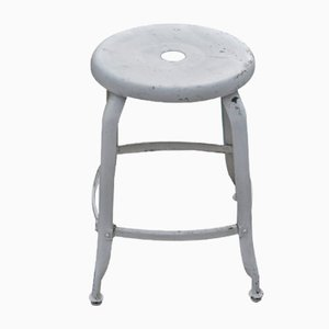 French Metal Stool, 1950s