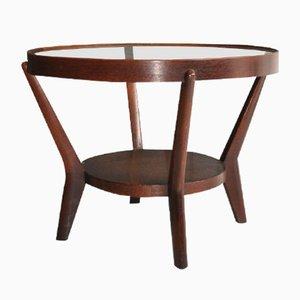 Table d'Appoint Vintage avec Plateau en Verre