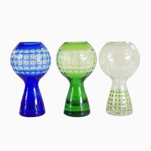 Vases par Marita Voigt pour Harzkristall, 1970s, Set de 3