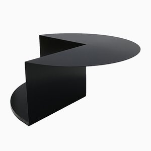 Cantilever Minimalist Coffee Table in Coated Steel by Nina Cho