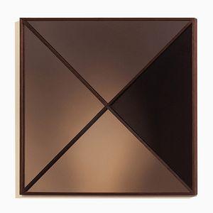 Constructivist Square Modern Wall Mirror by Nina Cho