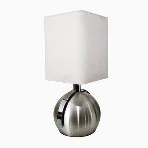 Lámpara de mesa francesa grande esférica, años 70