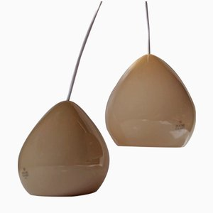 Danish Tear Drop Pendant Lamps by Torben Jørgensen for Holmegaard, 2003, Set of 2