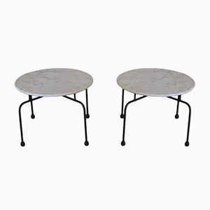 Marble Side Tables, 1950s, Set of 2