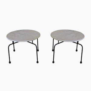 Tavolini in marmo, anni '50, set di 2