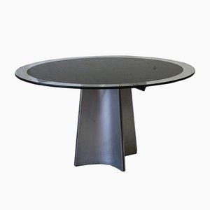 Runder Tisch mit Glasplatte von Luigi Saccardo für Arrmet, 1970er