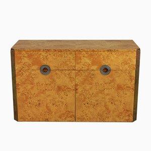 Aparador vintage de madera nudosa de Willy Rizzo para Mario Sabot