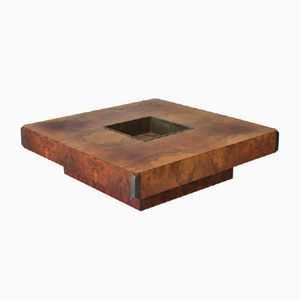 Square Coffee Table by Willy Rizzo for Mario Sabot, 1972