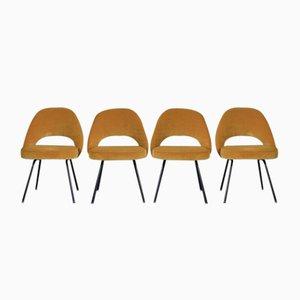 Vintage Polster Stühle von Eero Saarinen für Knoll, 4er Set