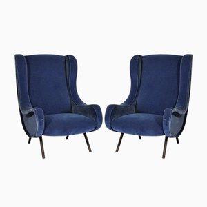 Chaises Senior Vintage de Marco Zanuso pour Arflex, Set de 2