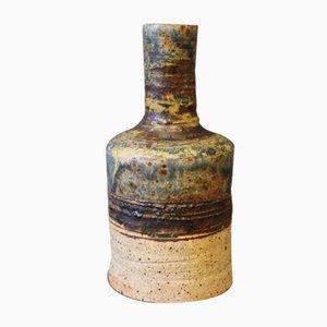Vintage Steingut Vase in Braun von Tue Poulsen