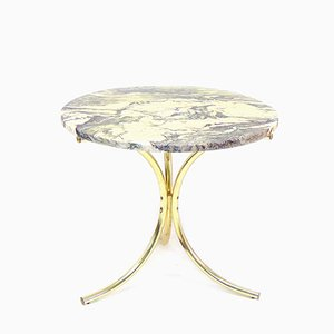 Swedish White & Grey Stone Side Table, 1970s
