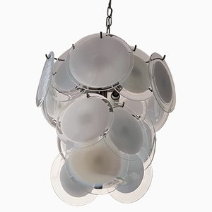Lampadario in vetro di Murano per Vistosi, anni '60