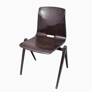 Chaise S22 Noire de Galvanitas, 1967