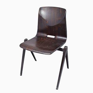 Dark Brown S22 Chair from Galvanitas, 1967
