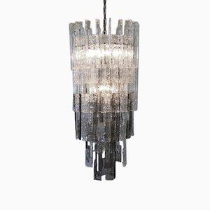 Lámpara de araña de cristal de Murano de Mazzega, años 70