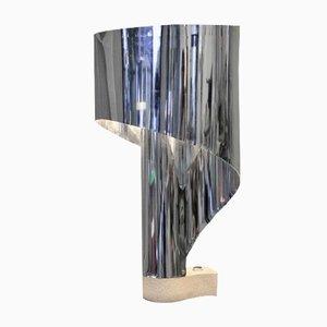 Lampada da tavolo in acciaio inossidabile di Stilnovo, anni '70