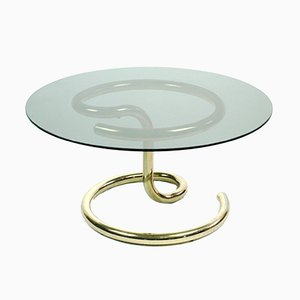 Brass Plated Anaconda Coffee Table by Paul Tuttle for Strässle, 1970s