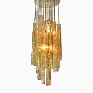 Lámpara de araña de cristal de Murano de Venini, años 70
