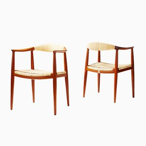JH-501 The Chair by Hans J. Wegner for Johannes Hansen, 1949, Set of 2