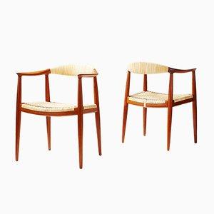 JH-501 The Chair par Hans J. Wegner pour Johannes Hansen, 1949, Set de 2