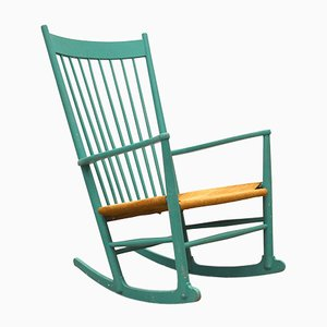 Rocking Chair JH16 par Hans J. Wegner pour FDB Møbler, Danemark, 1960s