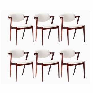 Model 42 Dining Chairs by Kai Kristiansen for Skovman Andersen, 1956, Set of 6