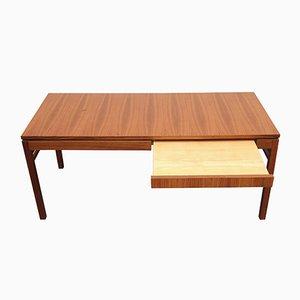 Tavolino da caffè allungabile impiallacciato in noce, anni '60