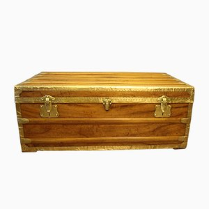 Camphor Wood & Brass Cabin Trunk, 1900s