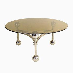 German Chromed Modernist Table, 1970s